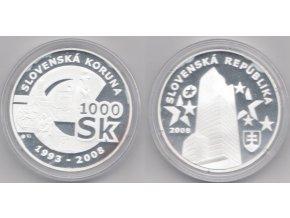 Ag Slovensko 2008 / MPSK 54 / Rozlúčka so slovenskou korunou 1000 Sk / Proof