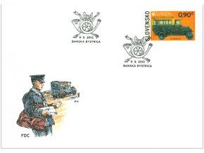 SR 2013 / 538 / EUROPA - Poštové vozidlo FDC