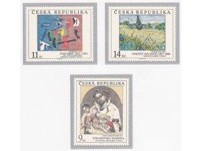 ČR 1993 / 027-029 / Umelecké diela na známkach