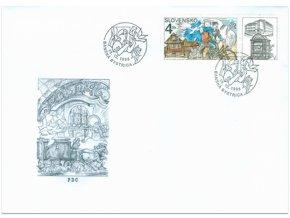 SR 168 Deň poštovej známky FDC