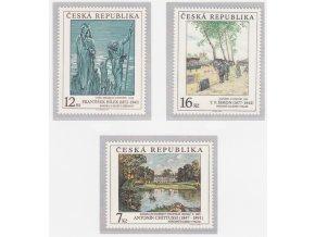 ČR 1997 / 162-164 / Umelecké diela na známkach