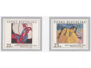 ČR 191-192 Umelecké diela na známkach I.