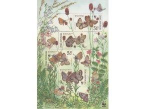 ČR 326-329 H Ochrana prírody - motýle (WWF)