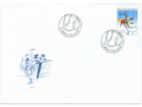 SR 2001 / 227 / ME v krasokorčuľovaní, Bratislava FDC