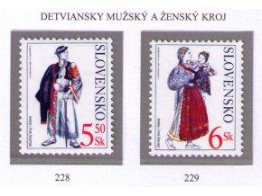 SR 2001 / 228-229 / Kroje