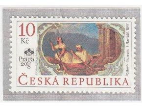 ČR 2008 / 549 / J. Navrátil - nástenná malba z Poštového múzea, Praga 2008