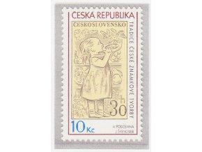 ČR 587 Tradícia českej známkovej tvorby