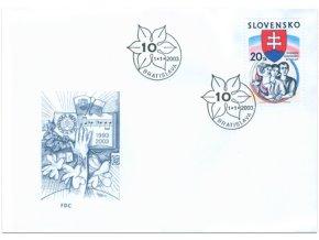 SR 284 10 rokov Slovenskej republiky FDC
