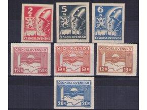 ČS 1945 / 0353-0359 / Košické vydanie  **