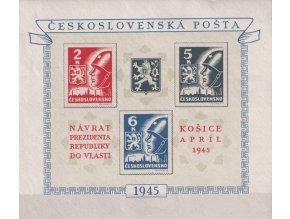 ČS 1945 / 0360-0362 H / Košické vydanie  **