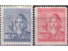 ČS 1945 / 0429-0430 / Zjazd študentov  **