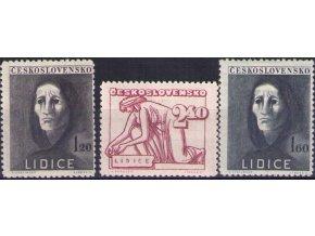 ČS 1947 / 0453-0455 / Lidice  **