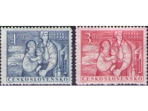 ČS 1948 / 0490-0491 / 30. výročie ČSR  **