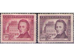 ČS 1949 / 0517-0518 / F. Chopin  **
