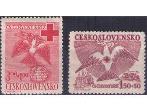 ČS 1949 / 0527-0528 / Červený kríž  **