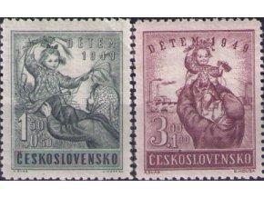 ČS 1949 / 0529-0530 / Deťom  **