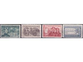 ČS 1950 / 0538-0541 / Výročie oslobodenia (HT)  **