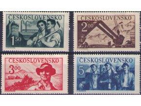 ČS 1950 / 0542-0545 / Výročie oslobodenia (OT)  **