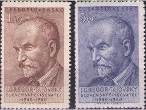 ČS 1950 / 0567-0568 / J. G. Tajovský  **