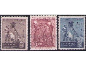 ČS 1951 / 0612-0614 / Deň baníkov **