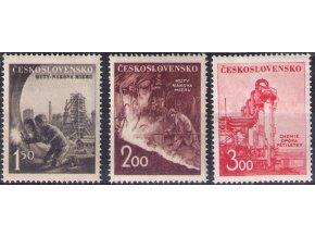 ČS 1952 / 0633-0635 / Ťažký priemysel **