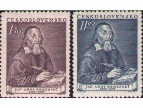 ČS 1952 / 0642-0643 / J. A. Komenský **