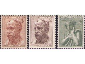 ČS 1952 / 0658-0660 / J. V. Myslbek **