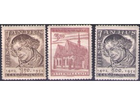 ČS 1952 / 0667-0669 / Majster Jan Hus **