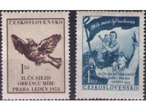 ČS 1953 / 0700-0701 / Čs. zjazd obrancov mieru **