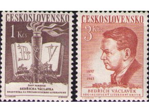 ČS 1953 / 0712-0713 / B. Václavek **