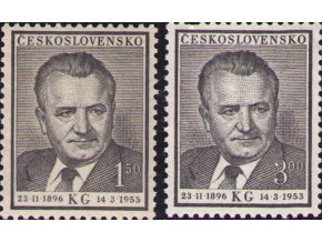 ČS 1953 / 0717-0718 / K. Gottwald **