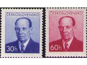 ČS 1953 / 0736-0737 / A. Zápotocký (HT) **