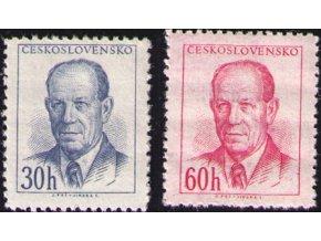 ČS 1953 / 0740-0741 / A. Zápotocký **