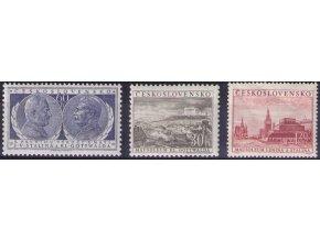 ČS 1954 / 0772-0774 / Výročie úmrtia KG a JVS **