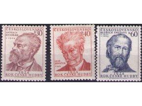 ČS 1954 / 0791-0793 / Rok českej hudby **