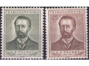 ČS 1954 / 0798-0799 / A. P. Čechov **