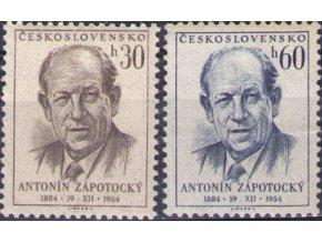 ČS 1954 / 0811-0812 / A. Zápotocký **