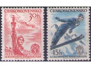 ČS 1955 / 0814-0815 / I. Spartakiáda **