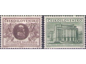 ČS 0816-0817 Založenie UK v Bratislave