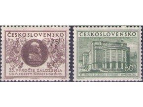 ČS 1955 / 0816-0817 / Založenie UK v Bratislave **