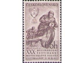 ČS 1955 / 0852 / Motocyklová súťaž **