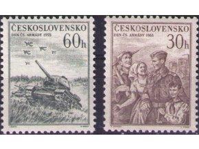 ČS 1955 / 0858-0859 / Deň čsl. armády **