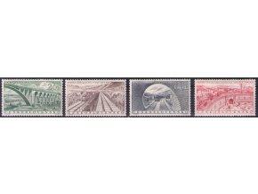 ČS 1955 / 0864-0867 / Stavby socializmu **