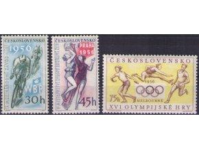 ČS 1956 / 0884-0886 / Šport **