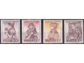 ČS 1956 / 0913-0916 / Ľudové kroje (2) **