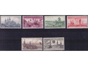 ČS 1957 / 0921-0926 / Výročia miest **