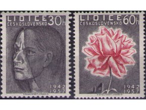 ČS 1957 / 0950-0951 / Lidice **