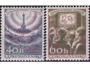 ČS 1957 / 0961-0962 / Čs. televízia **
