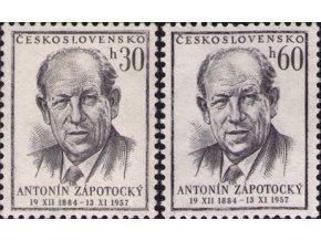 ČS 1957 / 0965-0966 / A. Zápotocký **