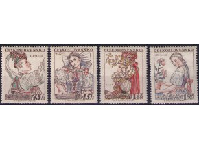 ČS 1957 / 0968-0971 / Ľudové kroje (3) **